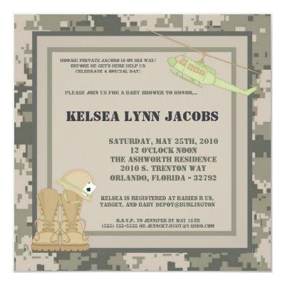 Army baby boy shower invitations baby shower invitations baby army camo acu print filmwisefo