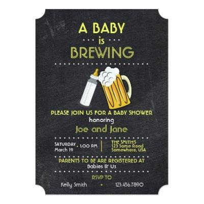 A Baby Is Brewing Invitation
