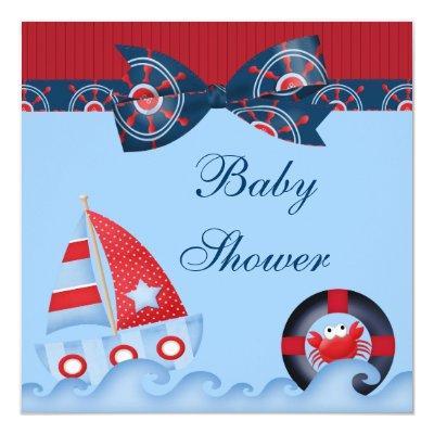 A Boys Sea Life Baby Shower Invitation