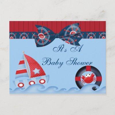 A Boys Sea Life Baby Shower Invitation Postcard