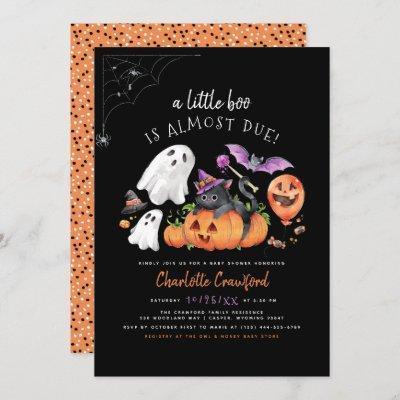 A Little Boo Cute Spooky Halloween Baby Shower Invitation