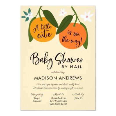 A Little Cutie Baby Shower by Mail Invitation