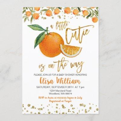 A little cutie is on the way invitation