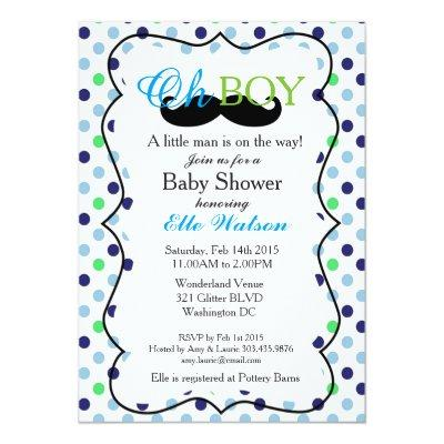 A Little Man is on the Way Invitations