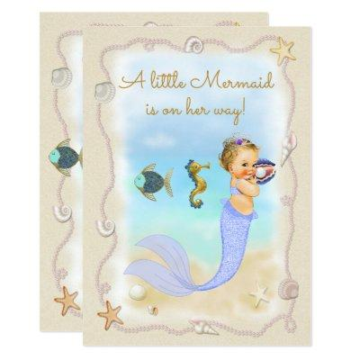 A Little Mermaid is on Her Way! Invitation