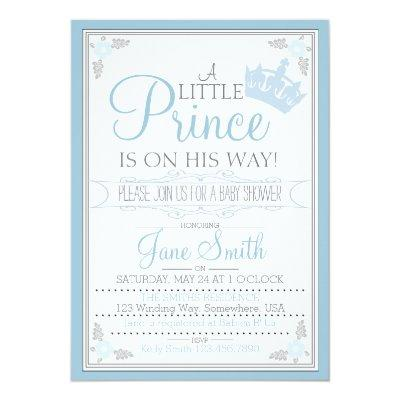 A Little Prince Is On His Way Invitation