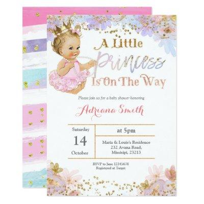 A Little Princess is on the way invitation