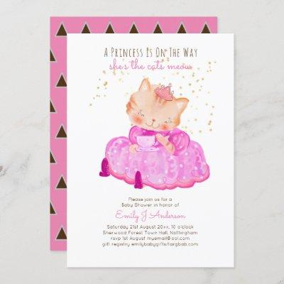 A Little Princess Is On Way Cats Meow Baby Shower Invitation
