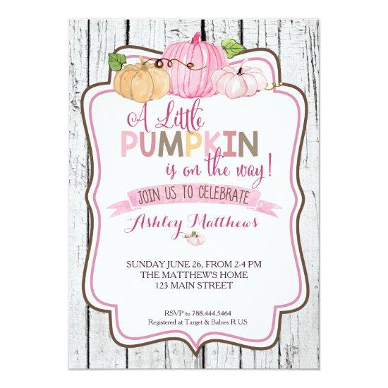 A little Pumpkin Baby Shower Card