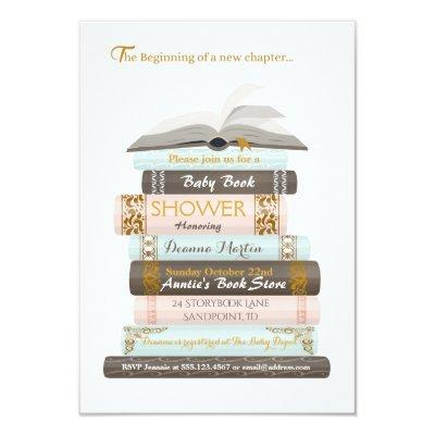 A New Chapter | Baby Book Shower Invitations