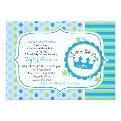 New little prince baby shower baby shower invitations baby shower a new little prince baby boy shower invitations filmwisefo