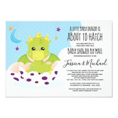 About to Hatch Dragon | Baby Shower by Mail Invitation
