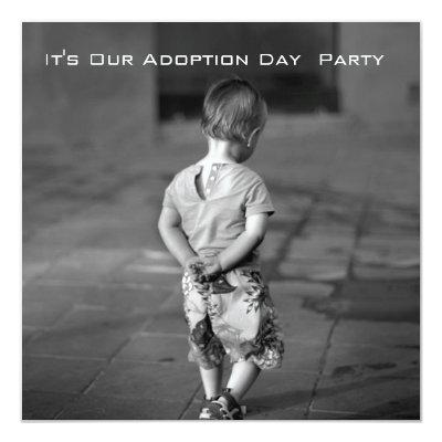 adoption day party Invitations