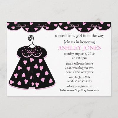 Adorable Baby Dress Baby Shower Invitation