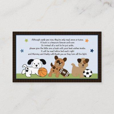 Adorable Bow Wow Puppy Sport Book Request Cards