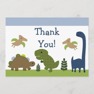Adorable Dino/Dinosaurs Baby Thank You Invitations