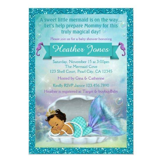 Adorable Mermaid Invitations #136 MED