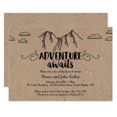 Adventure Awaits Baby Shower Invitations Kraft