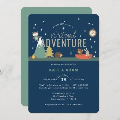 Adventure Awaits Woodland Boy Virtual Baby Shower Invitation