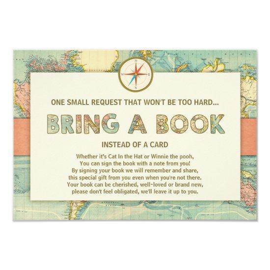 Adventure begins Baby Shower Bring a book Invitations