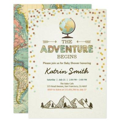 Adventure begins  Globe map