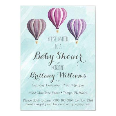 Hot Air Balloon Invites Baby Shower Invitations Baby Shower
