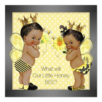 African American Bee Gender Reveal Invitations