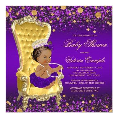 African American Princess Purple Gold