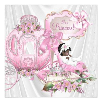African American Royal Princess Baby Shower Invitations