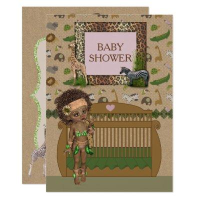 African Baby Shower Invitation
