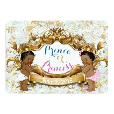 African Prince & Princess Gender Reveal Invitations