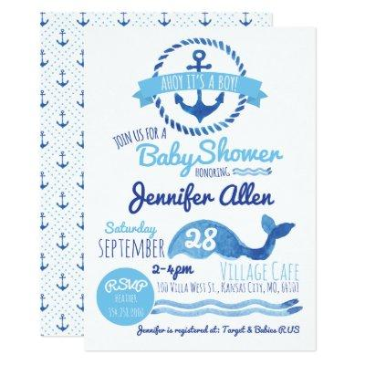 Ahoy It's a Boy! Baby Shower Invitation