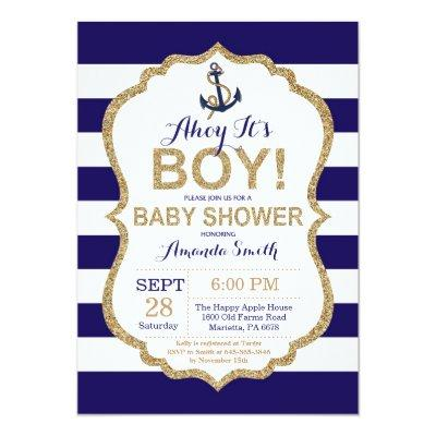Ahoy it's a Boy! Nautical
