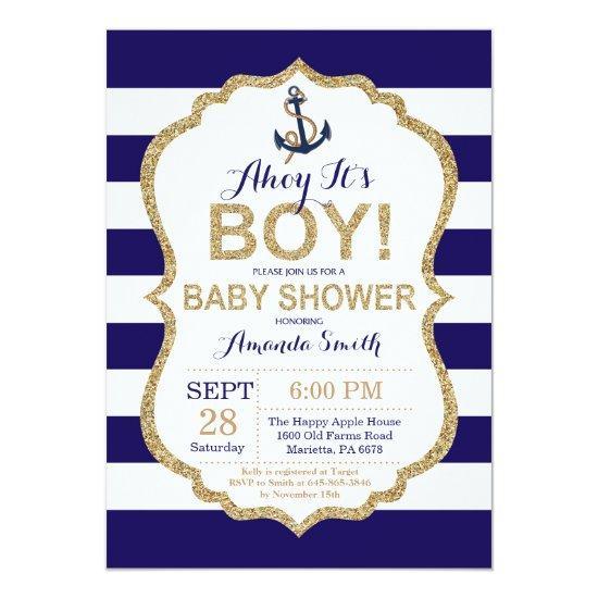 Ahoy it's a Boy! Nautical