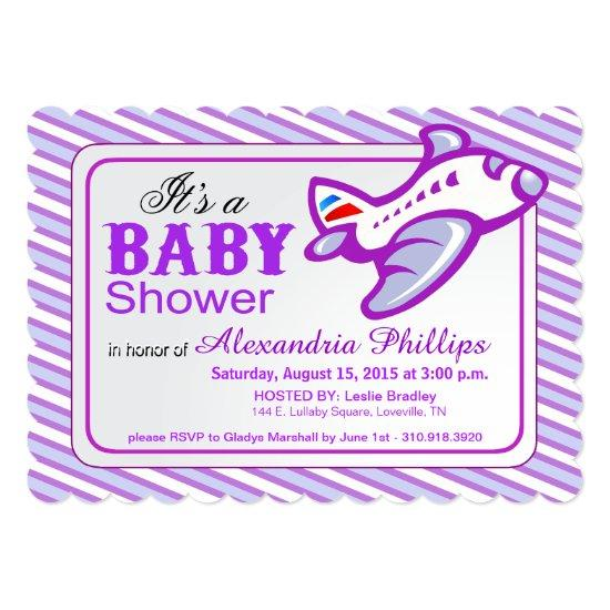 Airplane Baby Shower | Lilac Blue Invitations