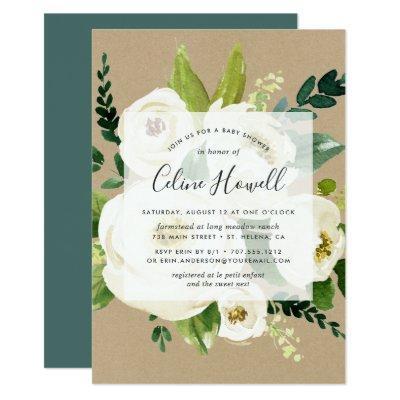 Alabaster Floral Kraft