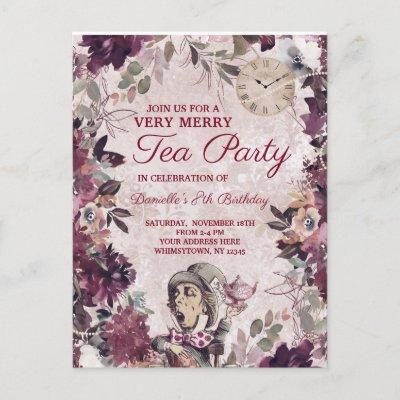 Victorian Tea Party Invitations Baby Shower