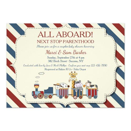 All aboard the train baby shower invitations all aboard the train filmwisefo