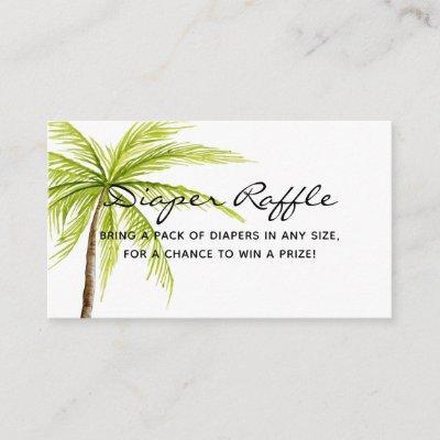 Aloha Baby Shower Tropical Diaper Raffle Ticket Enclosure Card