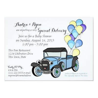 Antique Truck Invitations