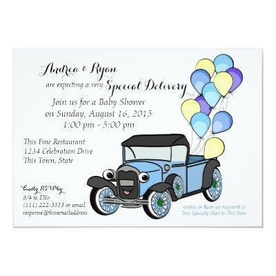 Antique Truck Invitations