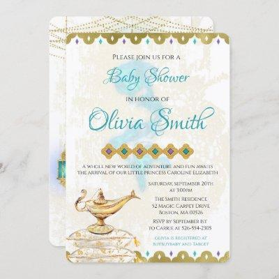 Arabian Nights Moroccan Baby Shower Invitation