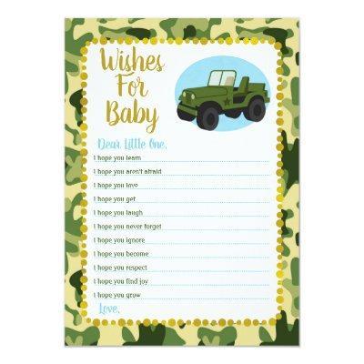 Soldier baby shower invitations baby shower invitations army camo wishes for baby shower game invitations filmwisefo