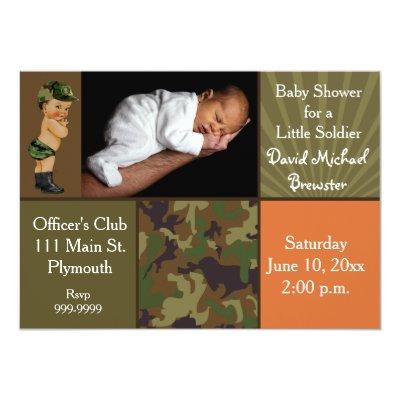 Vintage army baby shower invitations baby shower invitations baby army green camouflage photo filmwisefo