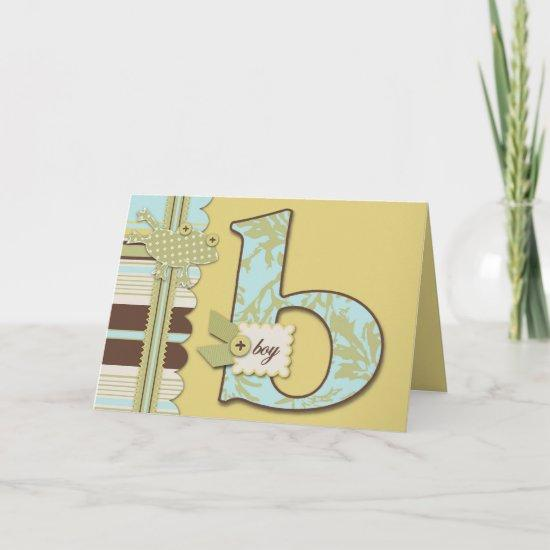 B is for Boy Card