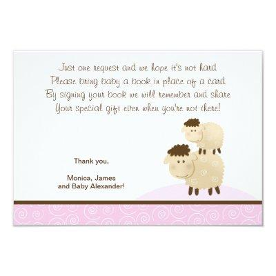 girl enclosure cards baby shower invitations   baby shower invitations, Baby shower invitations