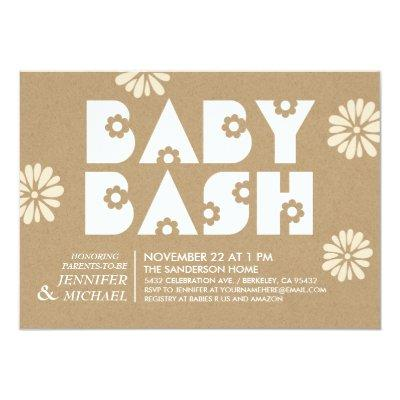 Baby Bash | Invitations Kraft Paper v1