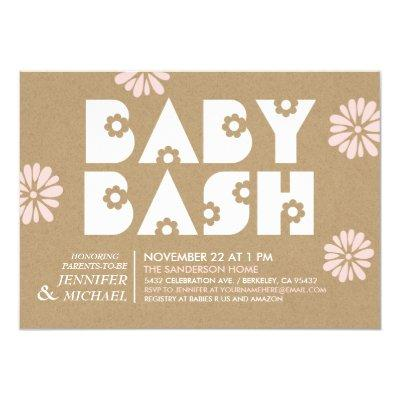 Baby Bash   Baby Shower Invitations Kraft Paper v2