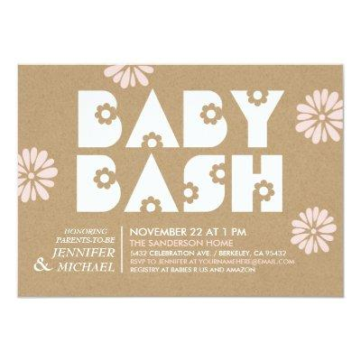 Baby Bash | Invitations Kraft Paper v2
