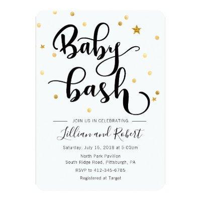 Baby Bash invitation - Gender Neutral